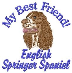 Springer Friend embroidery design