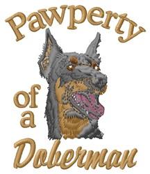 Doberman Pawperty embroidery design