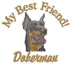 Doberman Friend embroidery design
