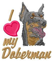 Love Doberman embroidery design