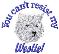Resist Westie embroidery design