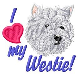 Love My Westie embroidery design