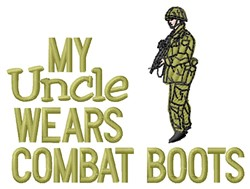 Combat Boots Uncle embroidery design