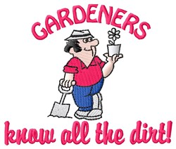 Gardeners Dirt embroidery design