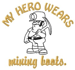 Mining Boots embroidery design