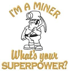 Miner Superpower embroidery design