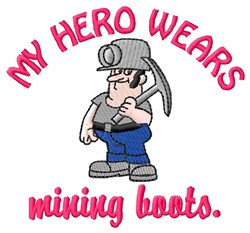 Mining Boots Hero embroidery design