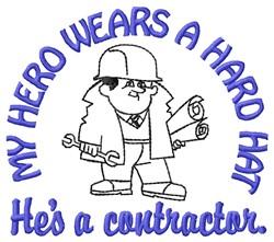 Hero Contractor embroidery design