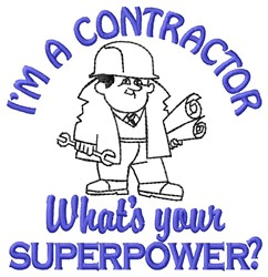 Contractor Superpower embroidery design