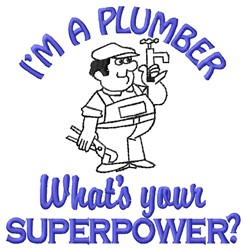 A Plumber embroidery design