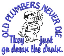 Old Plumbers embroidery design