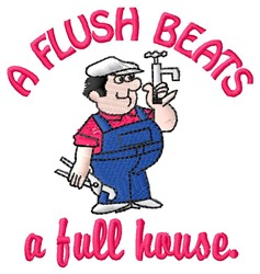 Flush Beats embroidery design