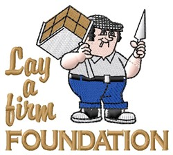 Firm Foundation embroidery design