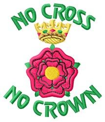 No Cross embroidery design