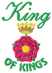 King of Kings embroidery design