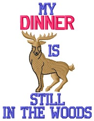 My Dinner embroidery design