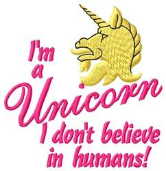 Im A Unicorn embroidery design