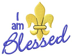 Am Blessed embroidery design