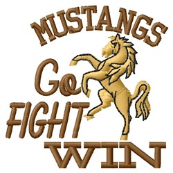 Mustangs Go Fight embroidery design