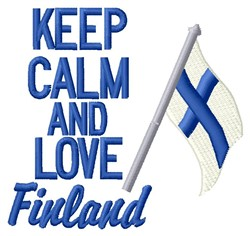 Love Finland embroidery design