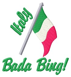 Bada Bing embroidery design