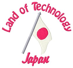 Land Of Technology embroidery design