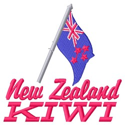 New Zealand Kiwi embroidery design