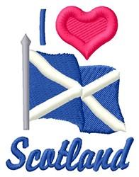 Love Scotland embroidery design