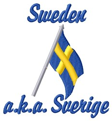 Sverige embroidery design