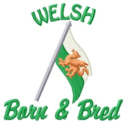 Welsh Born embroidery design