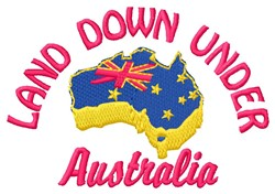 Down Under embroidery design