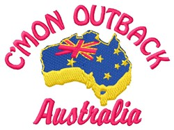 Outback embroidery design