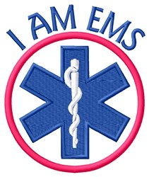 I Am EMS embroidery design