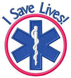 I Save LIves embroidery design