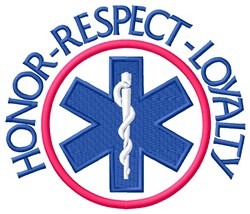 Honor Respect Loyalty embroidery design
