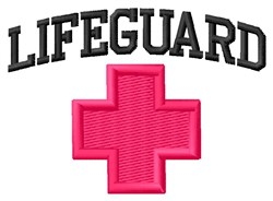 Lifeguard embroidery design