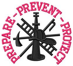 Prepare Protect embroidery design