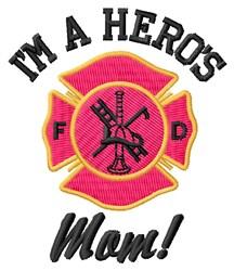 Heros Mom embroidery design