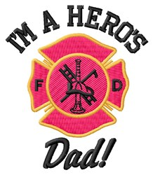 Heros Dad embroidery design