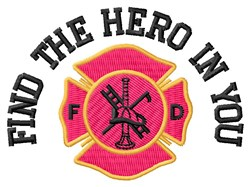 The Hero embroidery design