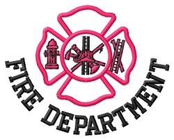Fire Department embroidery design