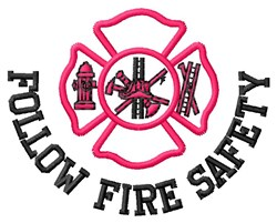 Fire Safety embroidery design