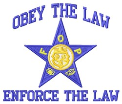 Obey The Law embroidery design