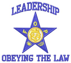 Leadership embroidery design