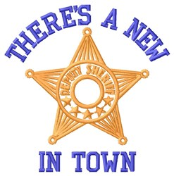 New Sheriff embroidery design