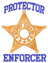 Protector embroidery design