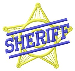 Sheriff embroidery design