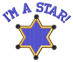 Im A Star embroidery design