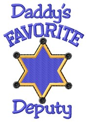 Favorite Deputy embroidery design