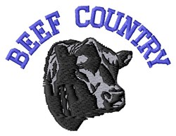 Beef Country embroidery design
